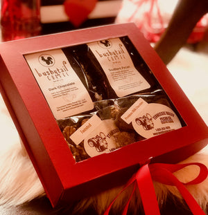 Red Ribbon Gift Box Pecan Sampler | Tennessee Valley Pecan Company