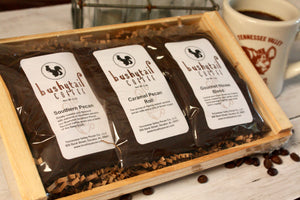 Bushytail Coffee Sampler Tray | Tennessee Valley Pecan Company