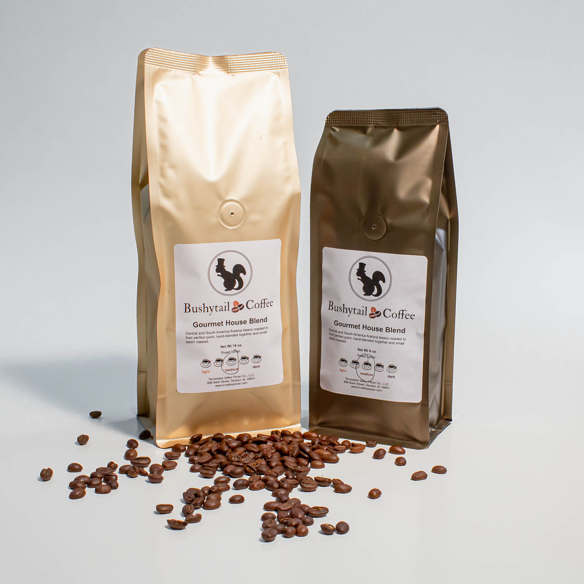 Gourmet House Blend Coffee | Bushytail Coffee | Tennessee Valley Pecan Company