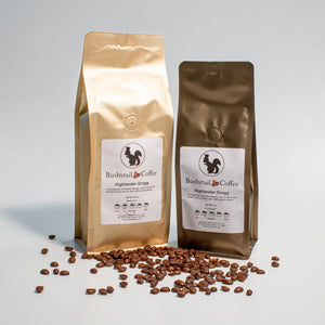 1/2 lb. and 1 lb. bags Highlander Grogg coffee | Bushytail Coffee