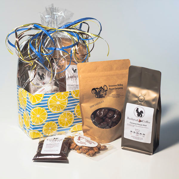 Summer Blast Gift Basket Box items including pecans and coffee | Tennessee Valley Pecan Company