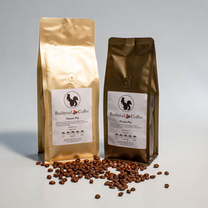 1/2 lb. and 1 lb. bags pecan pie coffee | Bushytail Coffee