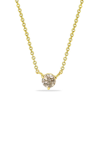 Champagne Solitaire Necklace