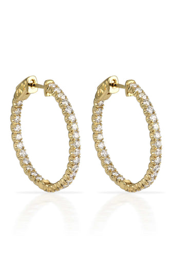 Gold Inside Out Hoops