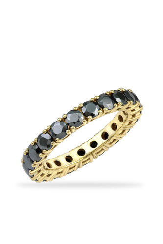 Gunmetal Eternity Band