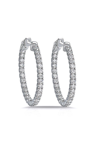 White Gold Inside Out Hoops