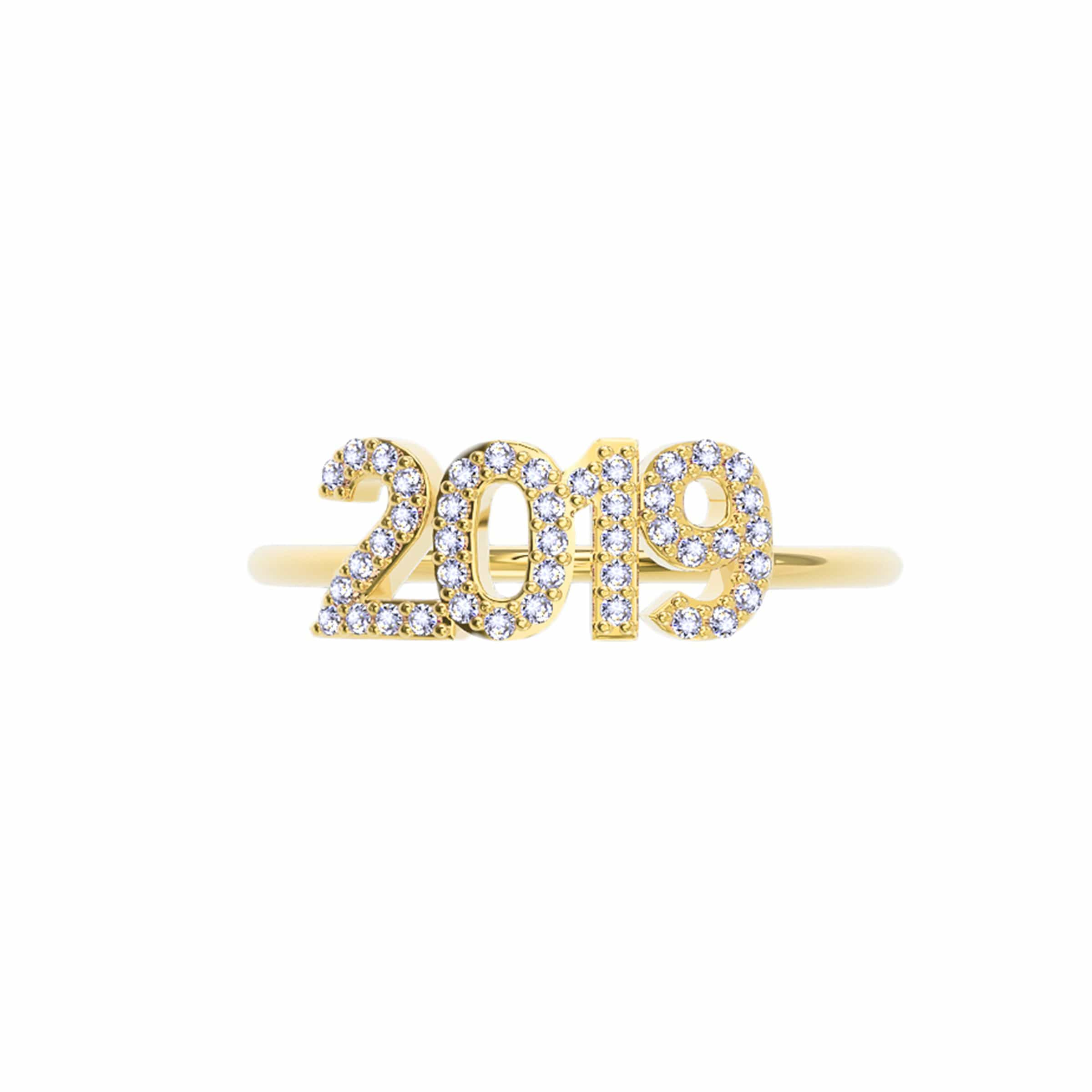 Pave Year Ring