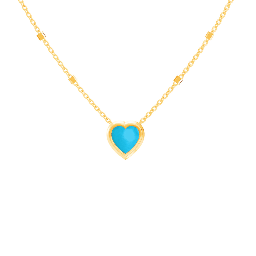 Kids Bezel Heart Necklace