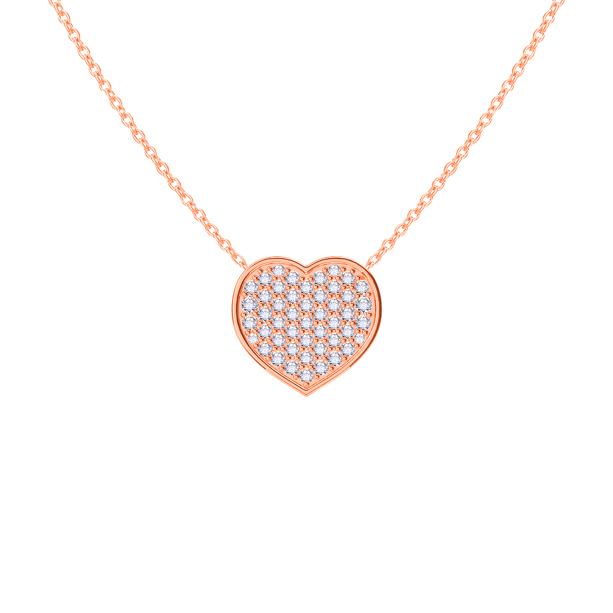 Kids Diamond Heart Necklace