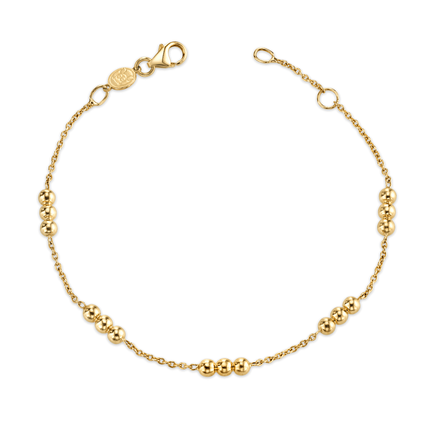 Kids Dainty Triple Gold Bead Bracelet