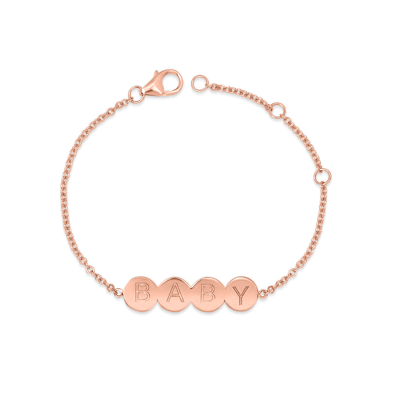 Bubble 4 Round Engravable ID Bracelet