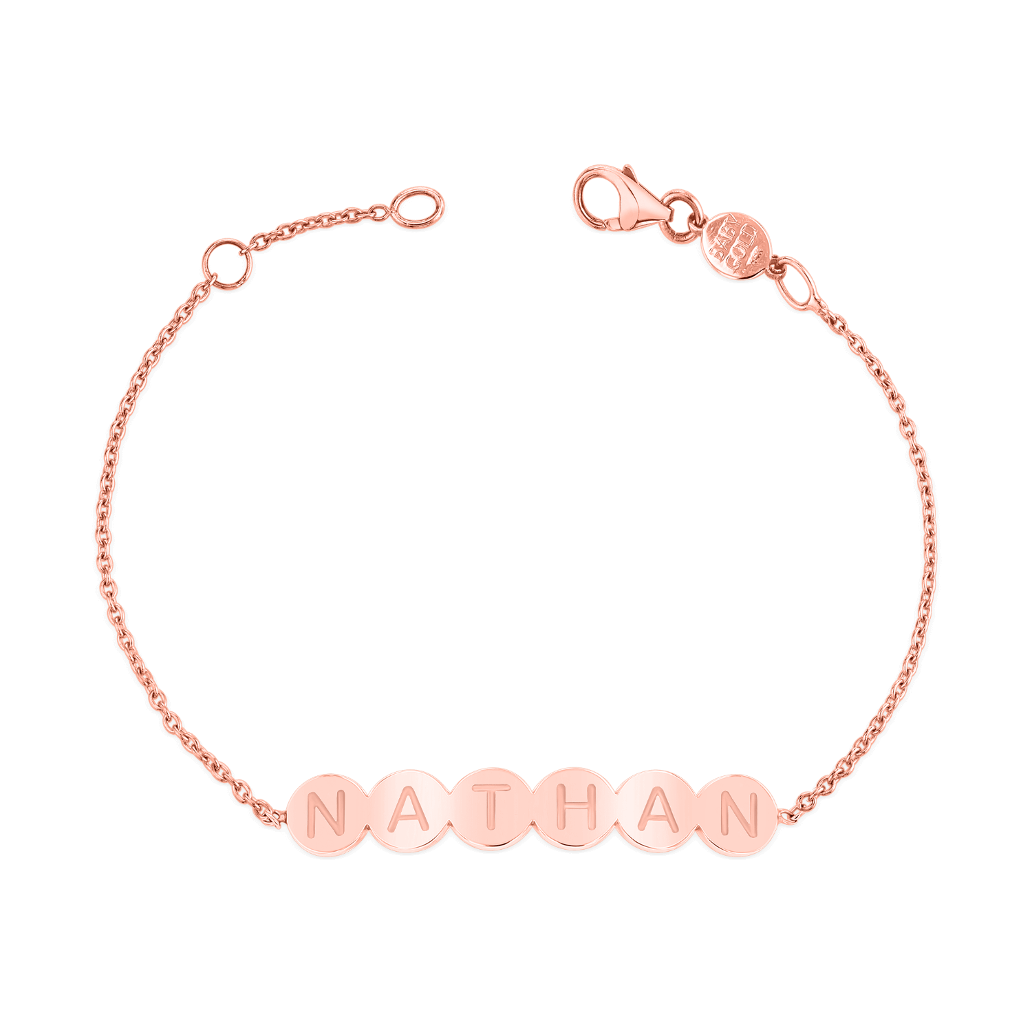 Bubble Round Engravable ID Bracelet