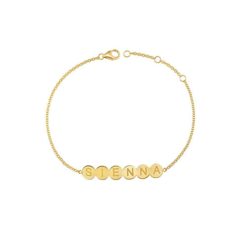 Bubble 6 Round Engravable ID Bracelet