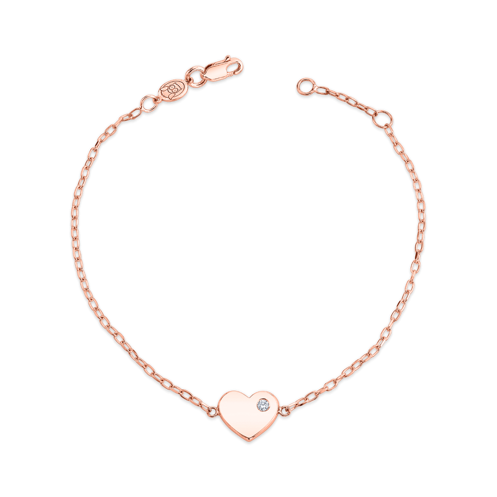 Kids Birthstone Heart Bracelet