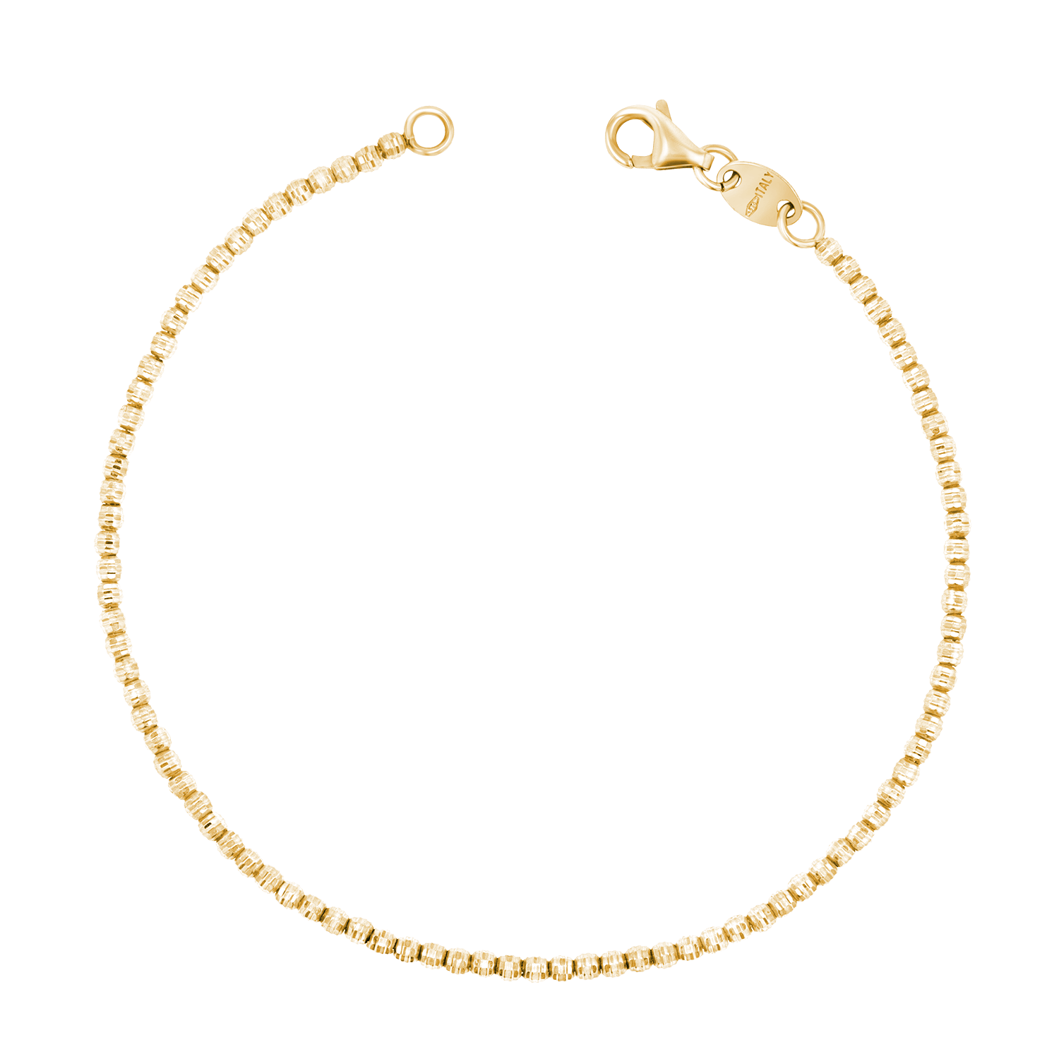 14K Gold Moon Cut Bracelet