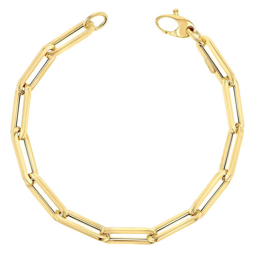 NEW! 14K Grand Paper Clip Chain Bracelet