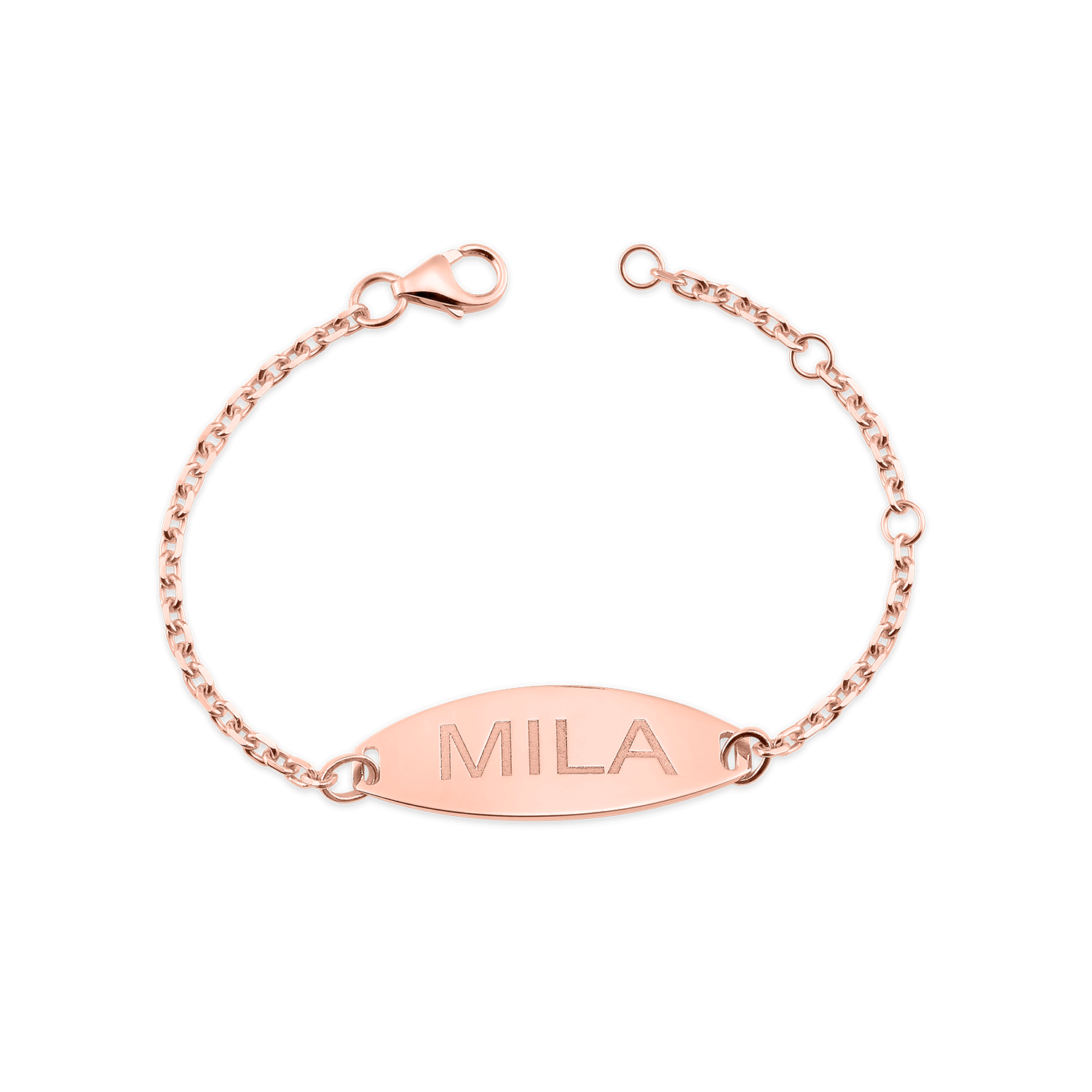 Kids Signature Elongated Oval ID Engravable Bracelet
