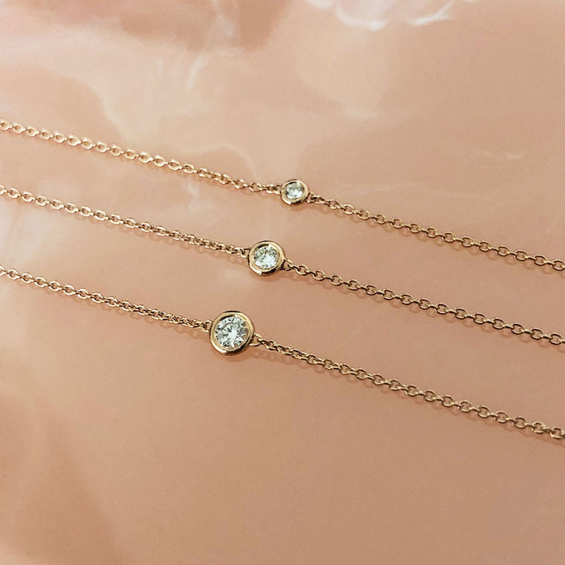Diamond Solitaire Bezel Necklace