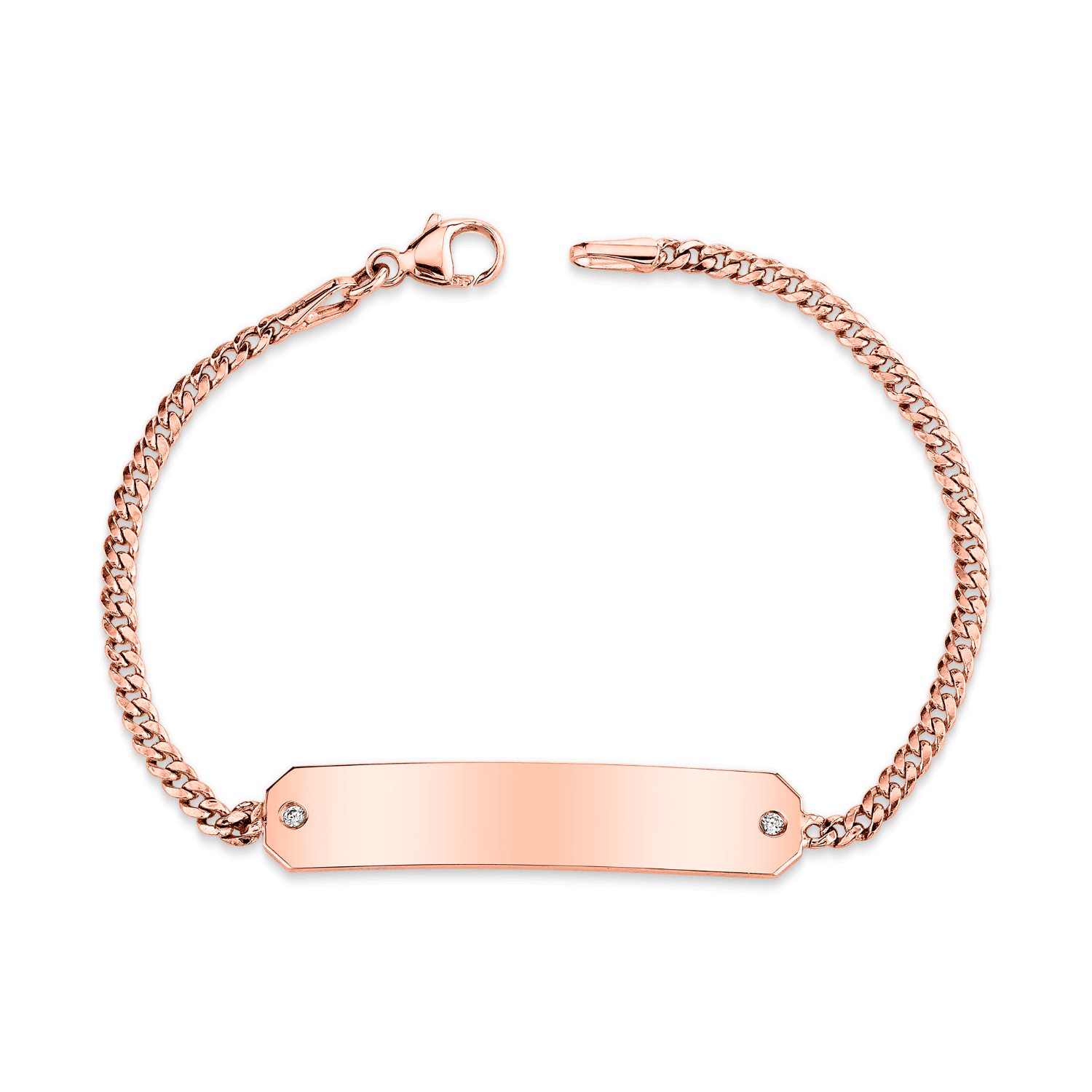 Diamond Engravable ID Bracelet