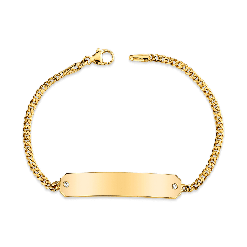 Cuban Link Diamond ID Bracelet
