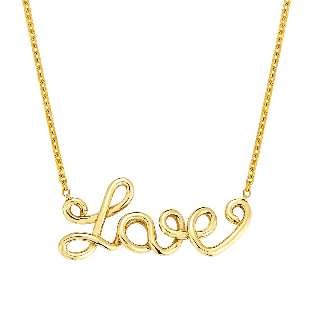 Wire Word Necklace