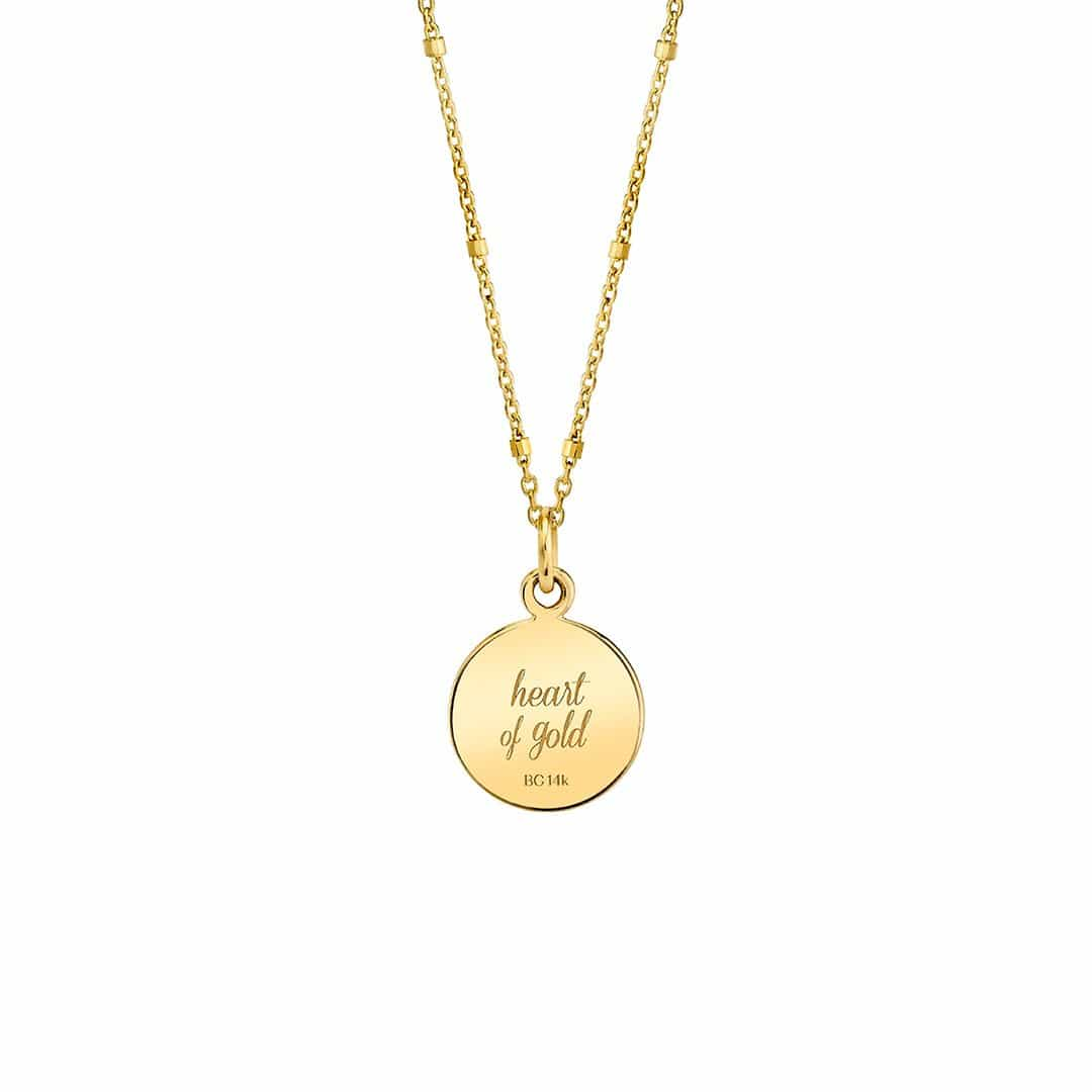 Moyen Opal Heart Name Medallion