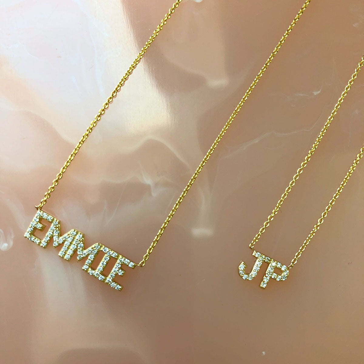Diamond Custom Name Necklace