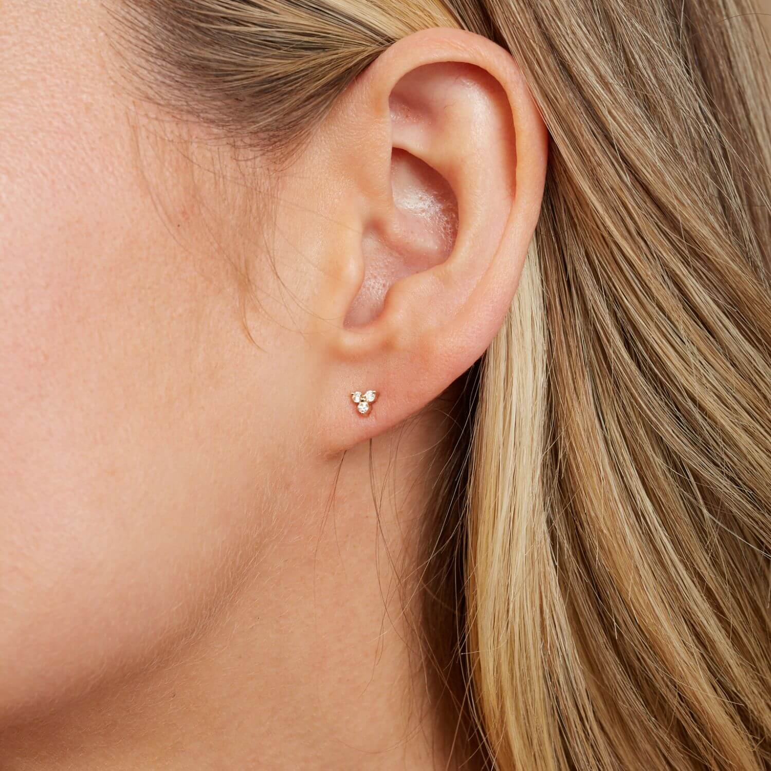 Trio Diamond Studs