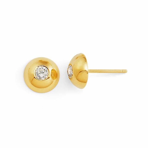 Trinatier Moyen Bezel Stud Earrings