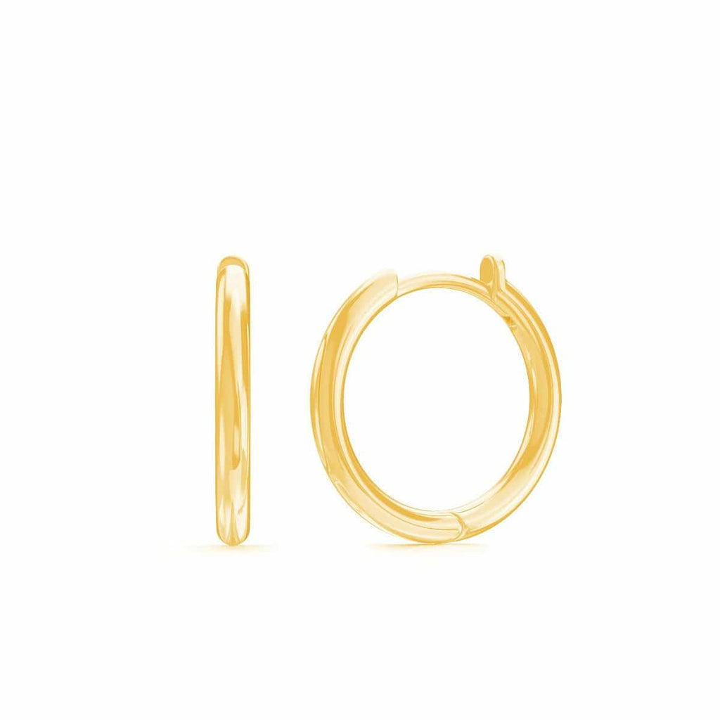 Grand Solid Huggie Hoop Earrings