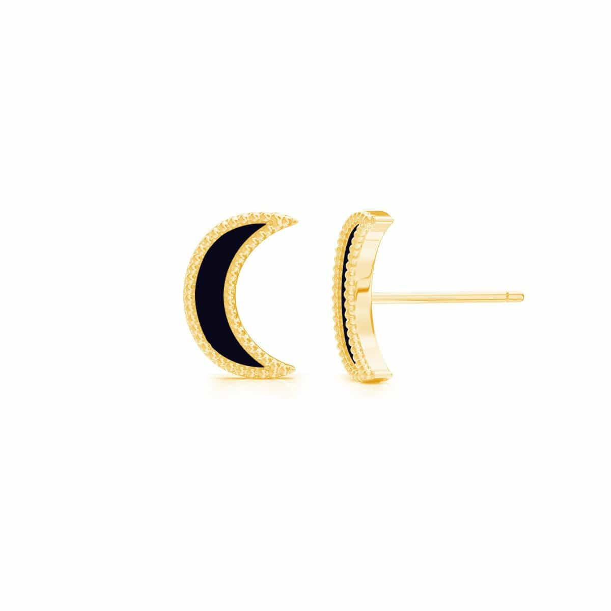 Moyen Enamel Moon Earrings
