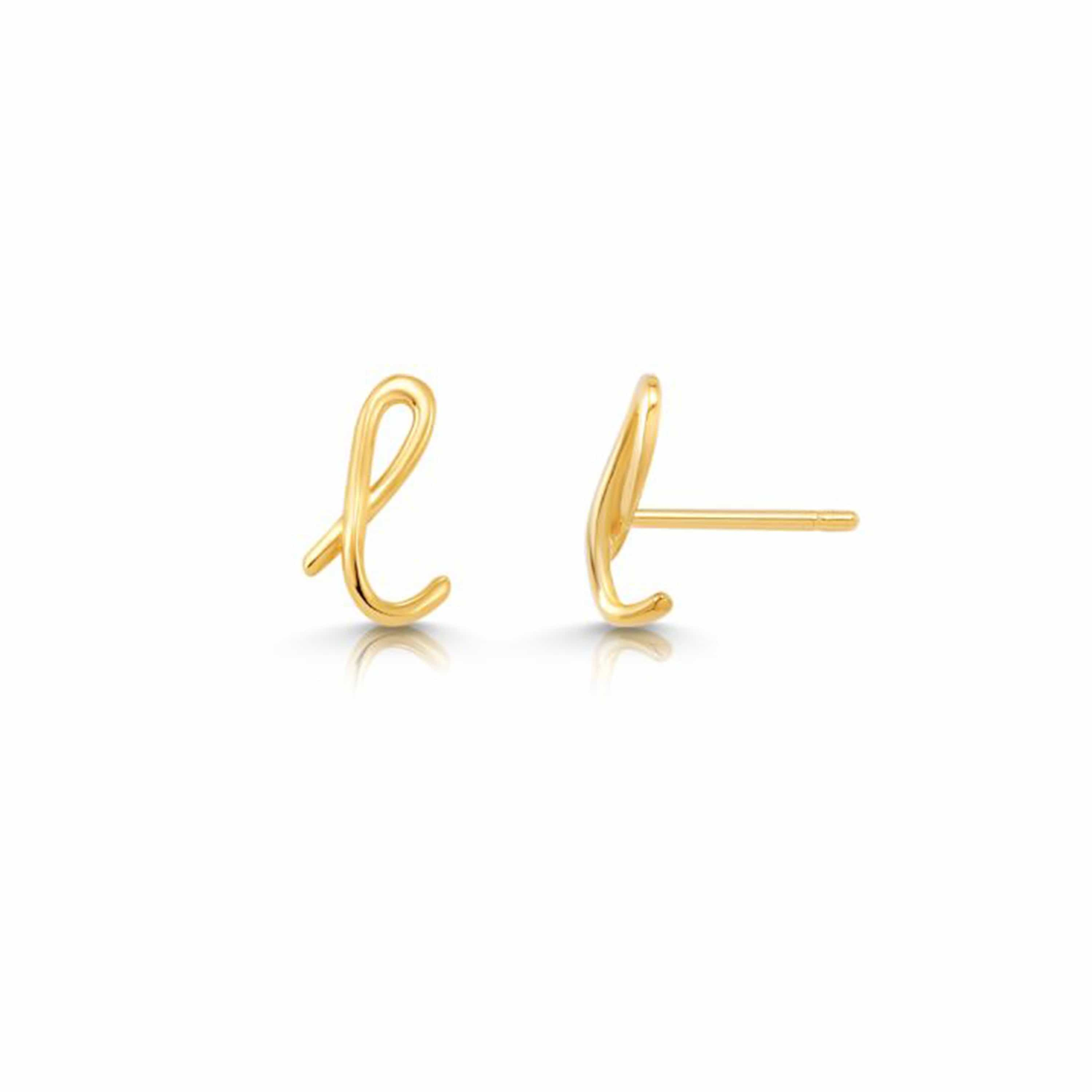 Mini Letter Earrings