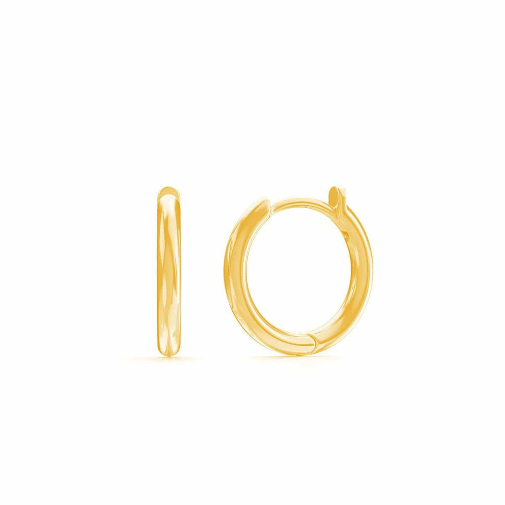 Moyen Solid Huggie Hoop Earrings