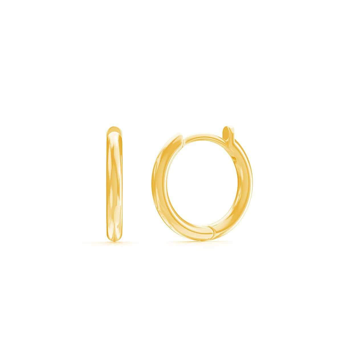 Kids Solid Huggie Earrings