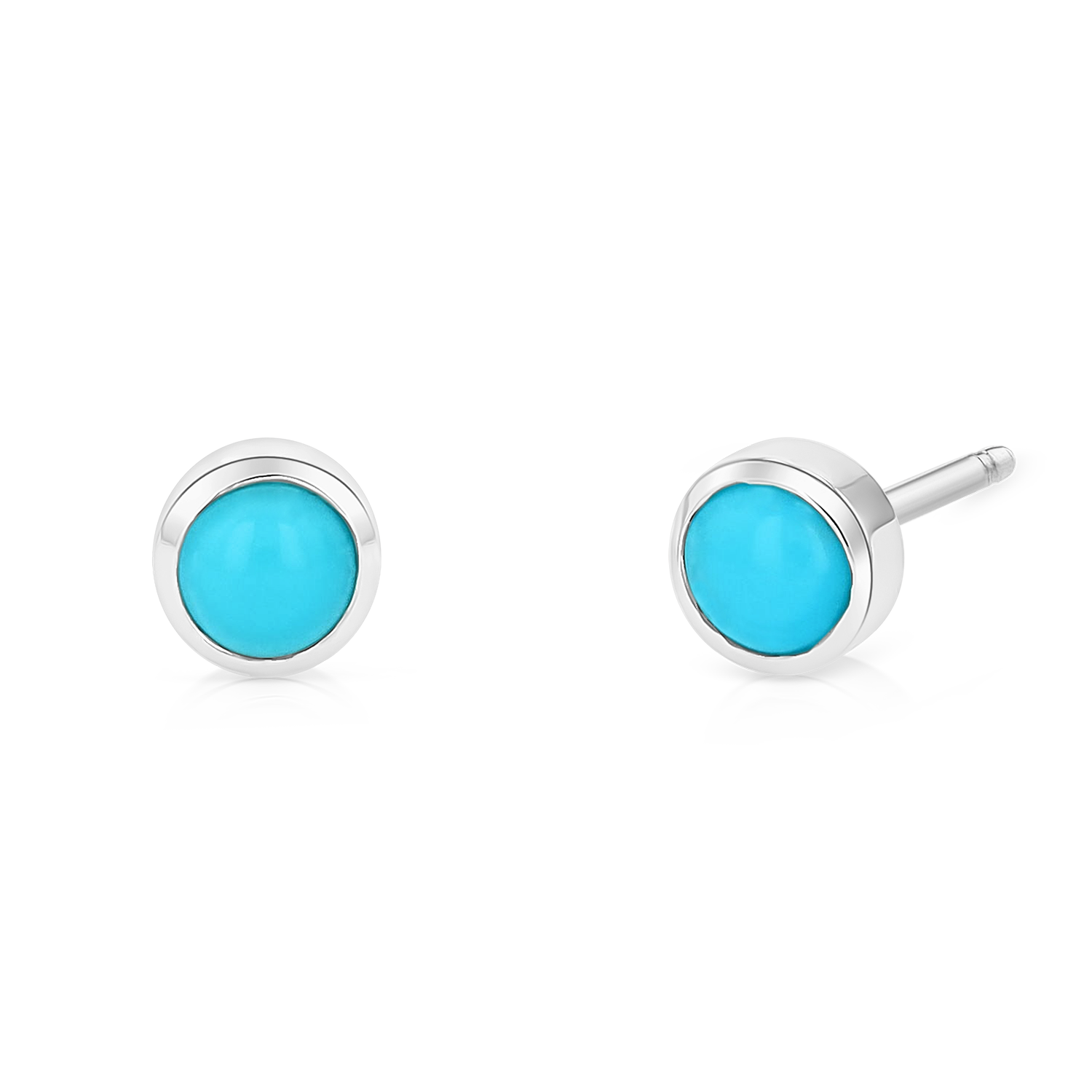 Turquoise Solitaire Stud Earrings