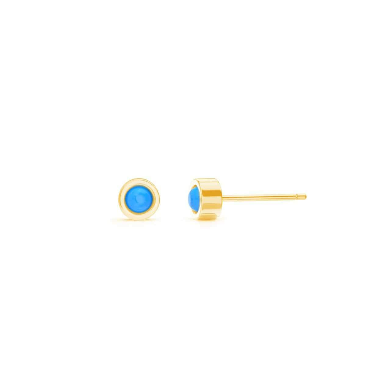 Kids Turquoise Solitaire Stud Earrings