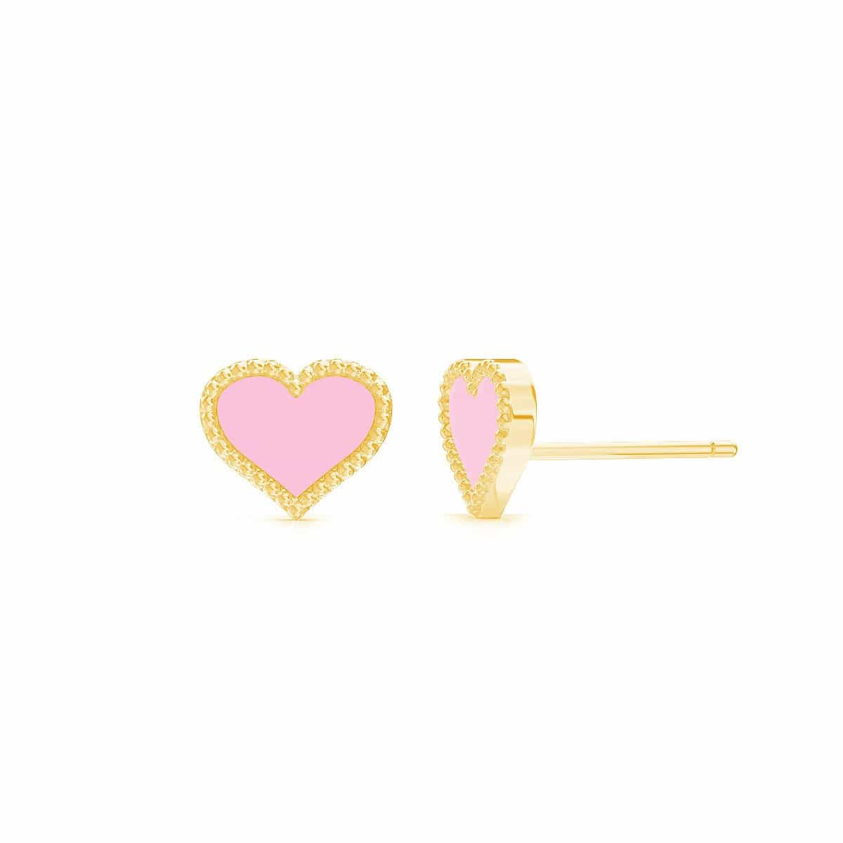 Petit Enamel Heart Earrings