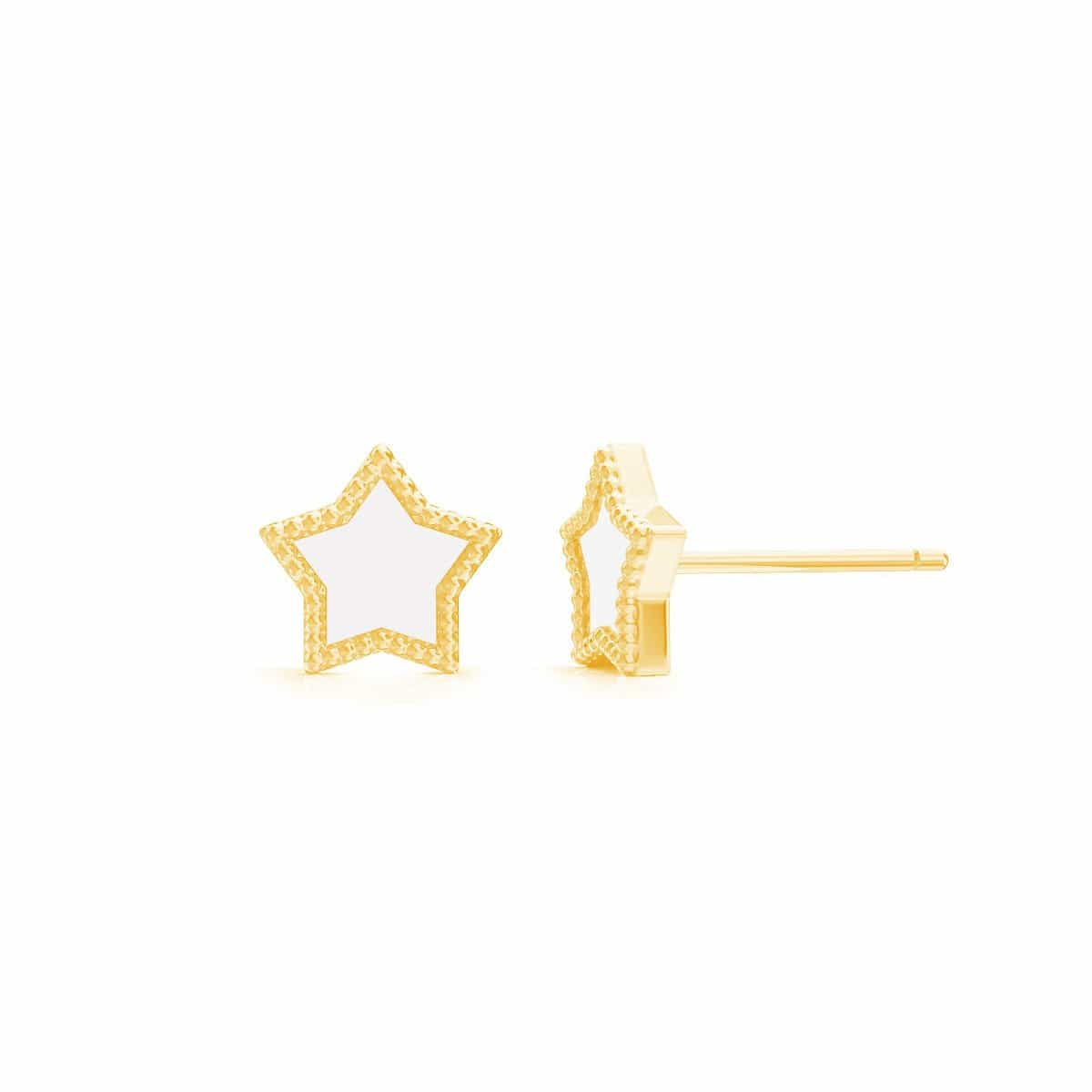 Petit Enamel Star Earrings