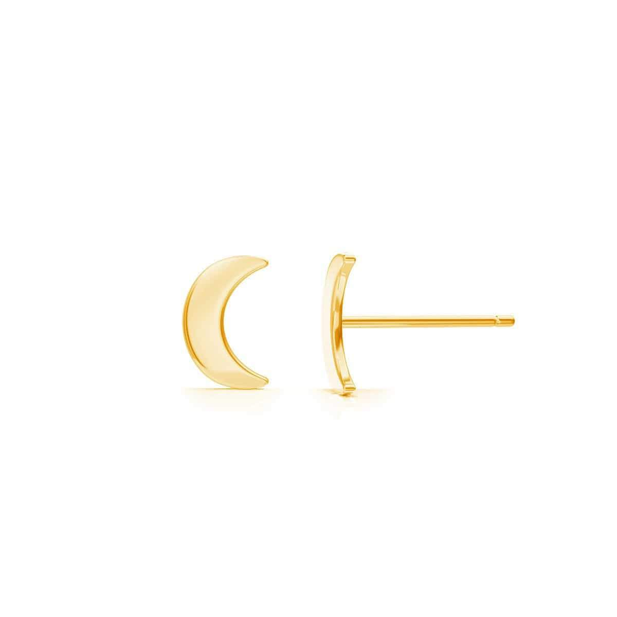 Kids Solid Moon Studs