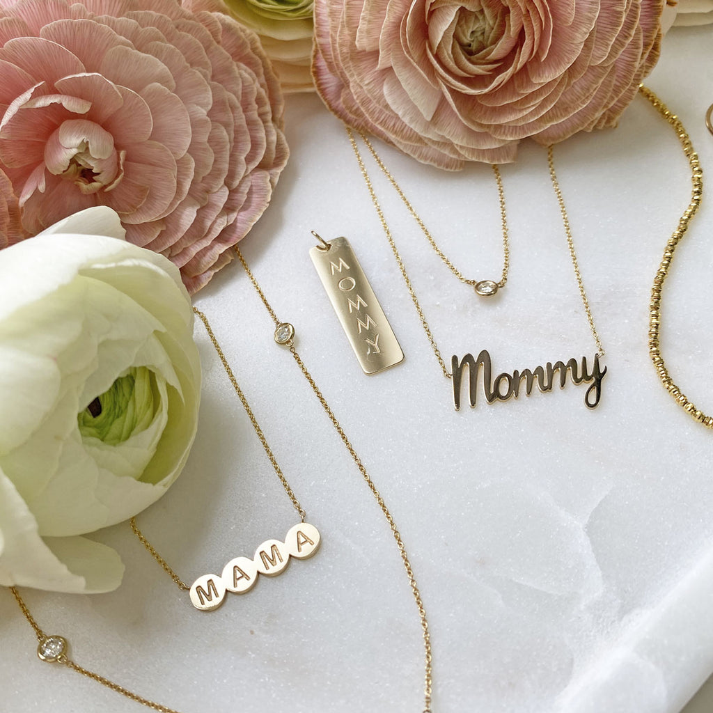 In-Stock Mommy Script Necklace