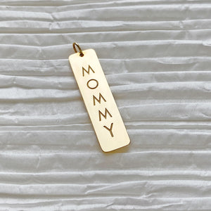 In-Stock Mommy Rectangle ID Charm