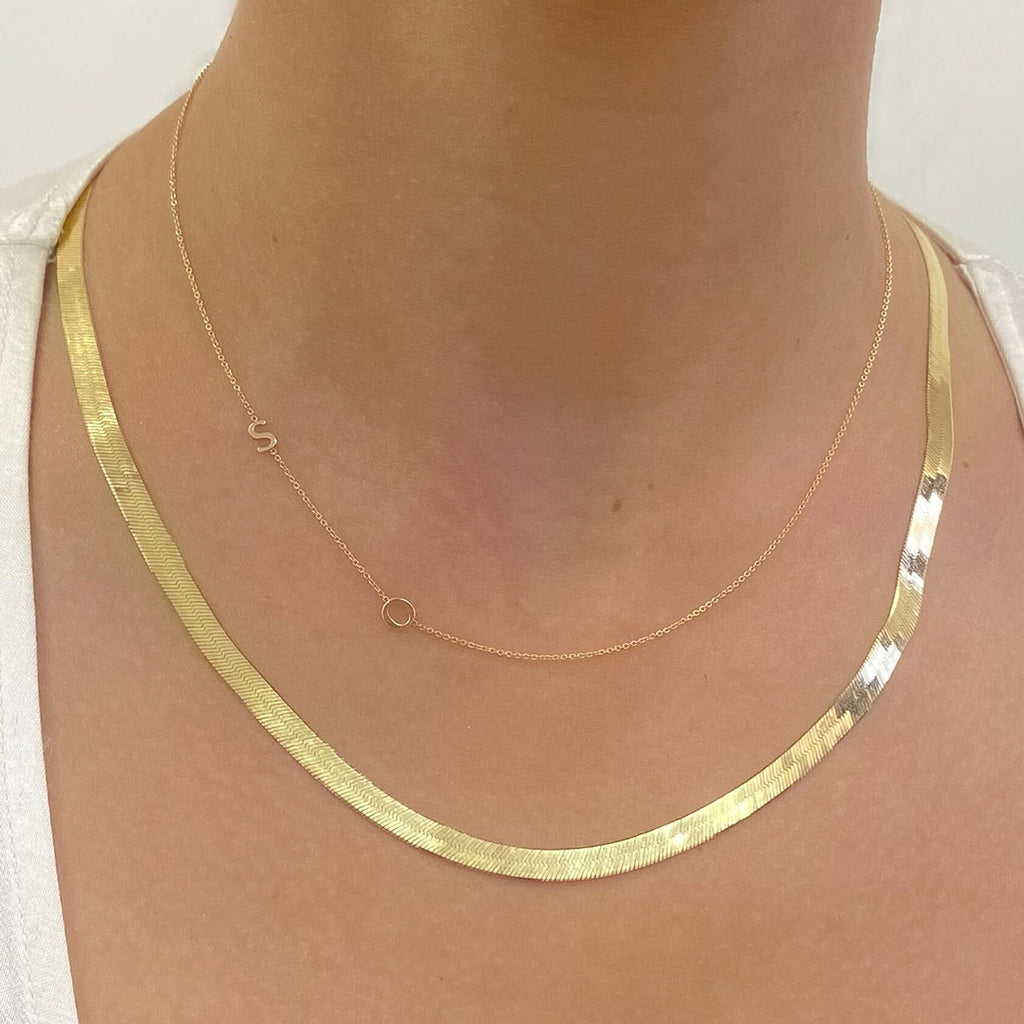 14K Gold Grand Herringbone Necklace