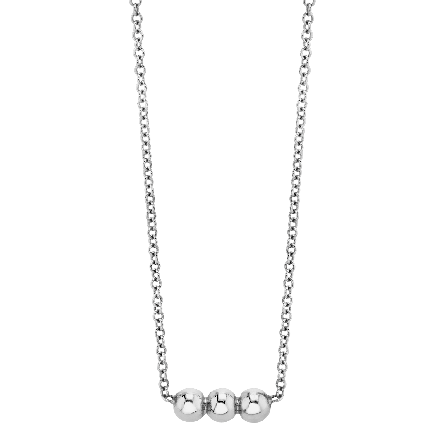 Dainty Trio Ball Necklace