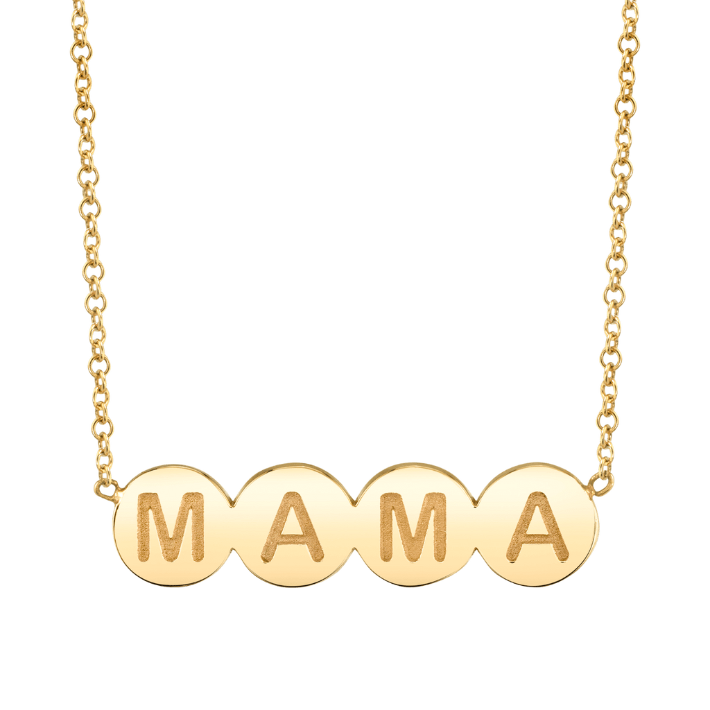Bubble Round MAMA Necklace