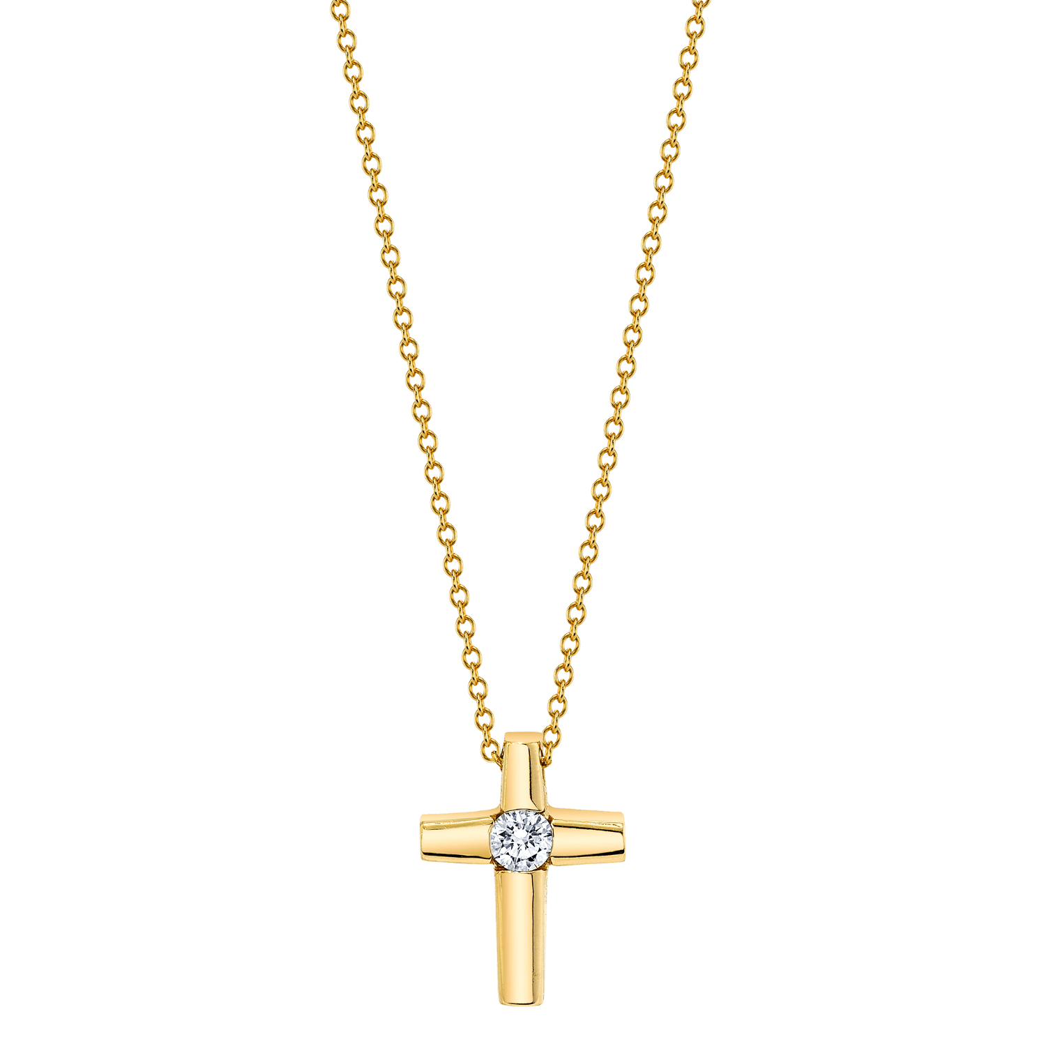 Center Diamond Cross