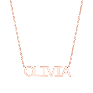 Linear Name Necklace