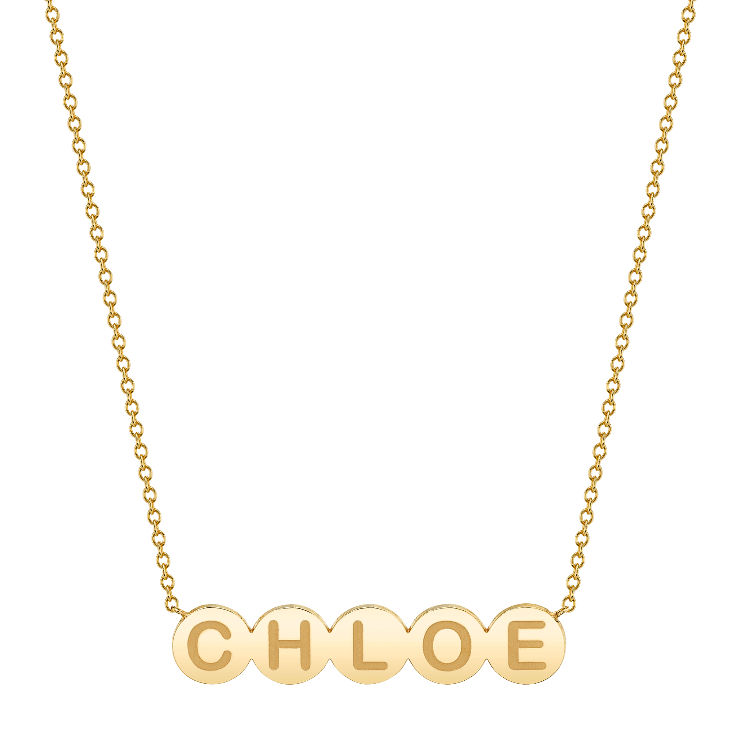 Bubble Round Engravable Necklace