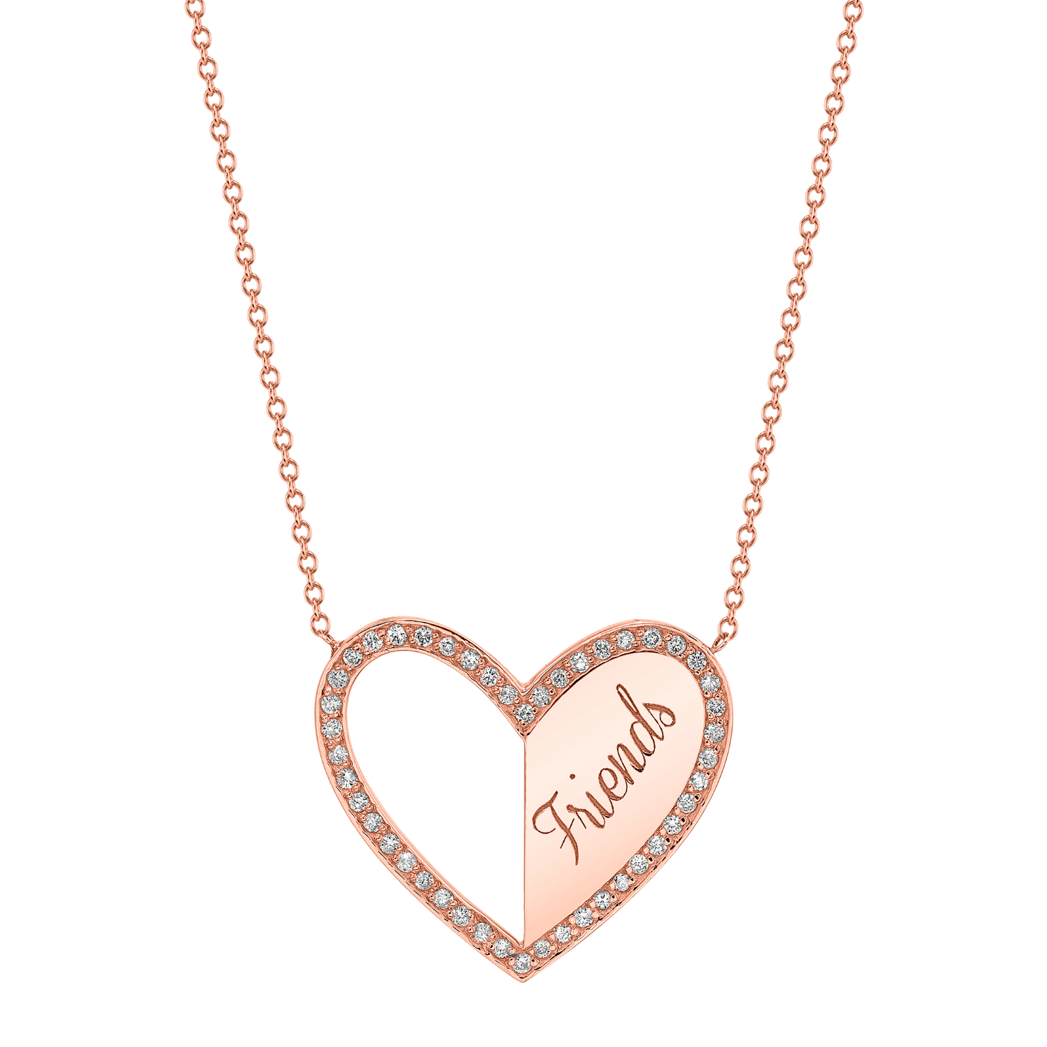 Best Friend Heart Necklaces (Set of 2)