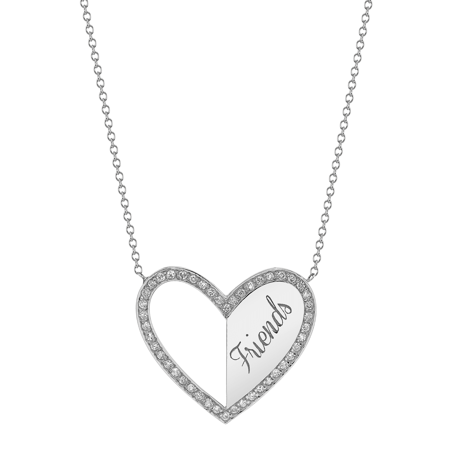 Kids Best Friend Heart Necklaces (Set of 2)