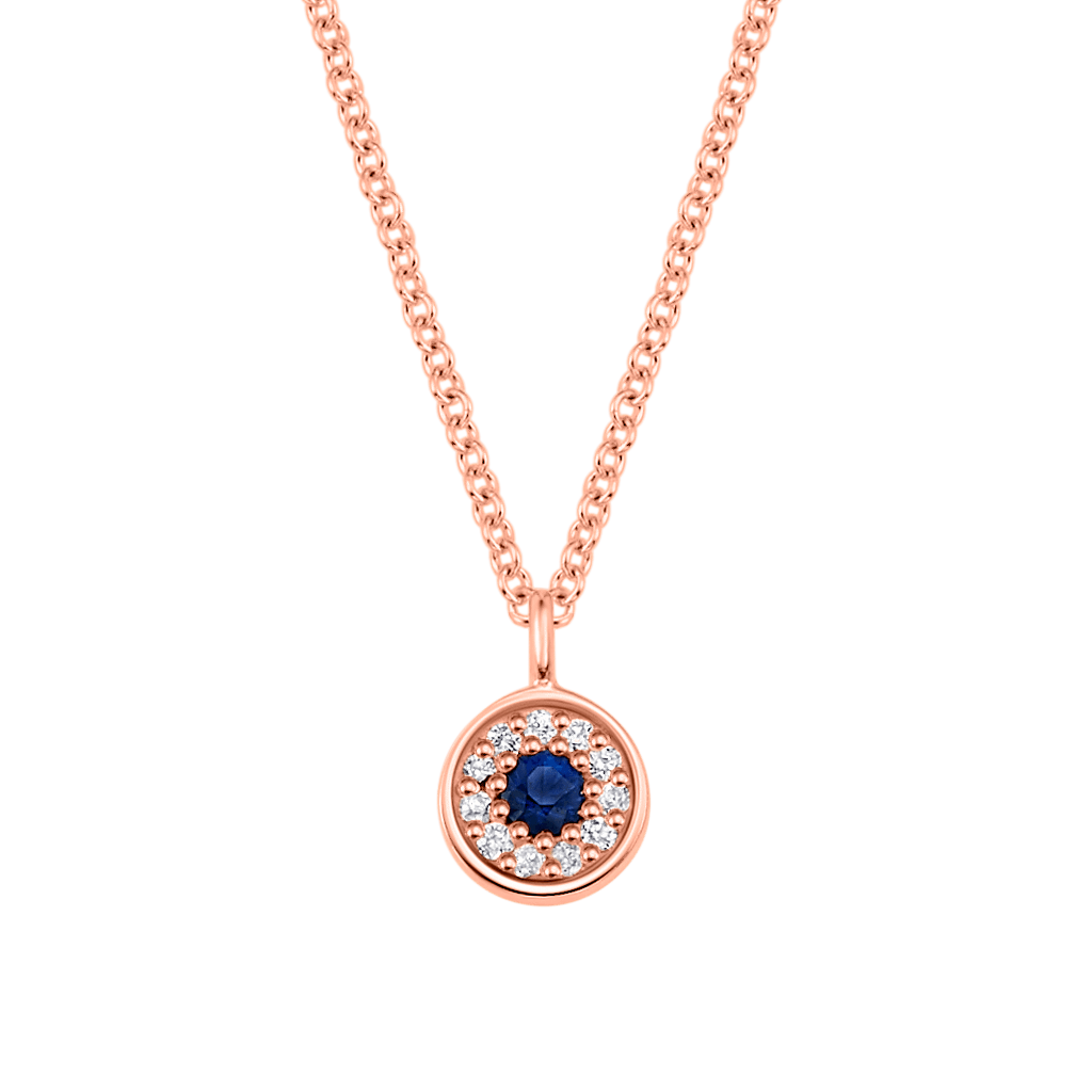 Kids Dainty Round Evil Eye Necklace